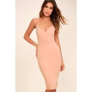 NWOT Lulu's Blush Pink Dress